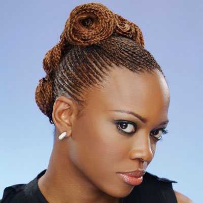 Natural Hair Braid Styles on My Hairspiration For The Day  Braided Updo   S   My Natural Reality